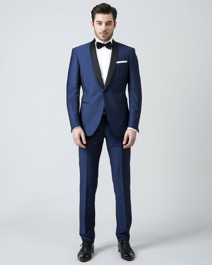 Vestito blu e nero uomo – Pelliccia sintetica nera corta 2b34eb6af97