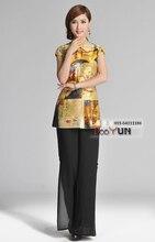 Chinese Traditional Shirt Womens  Silk Satin Tops
