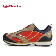 2016 Clorts Men Low-Cut Hiking Shoes Non-Slip Trekking Shoes Suede Leather Outdoor Shoes Approach Shoes for men