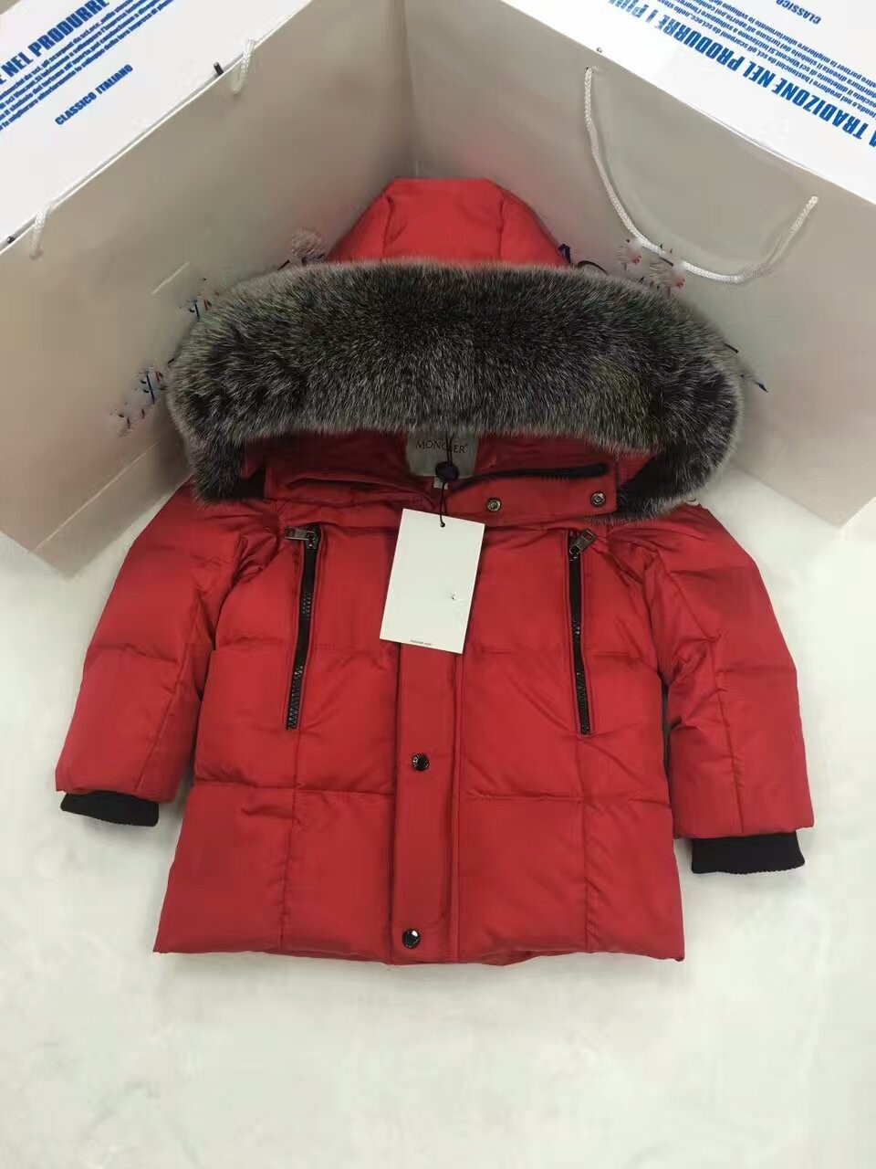 2016 Winter Jacket Girls down coat child down jackets girl duck down Fox Fur hooded long design coats children outwear outerwear