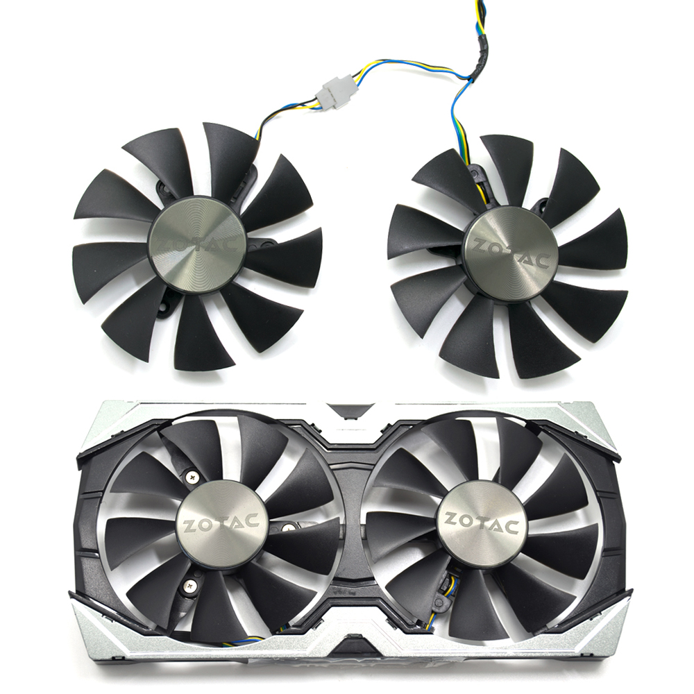 85mm GFY09010E12SPA 4Pin Cooler Fan Replace For ZOTAC Geforce GTX 1060 AMP Edition 6 GB GTX 1070 Mini Graphics Card Cooling image