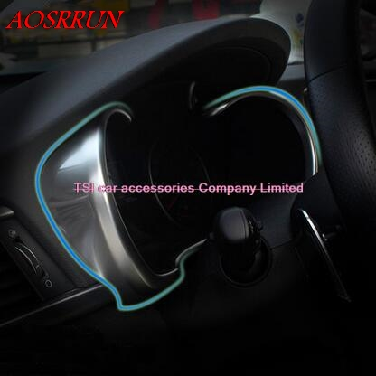 car-styling Decoration Car Instrument Panel Dash Bezel Cover Trim ABS Styling Sticker For Kia Optima K5 2016 2017 accessories image