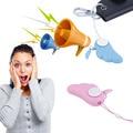 Bonito Da Asa do Anjo 90dB Segurança Pessoal Anti Estupro Anti Ataque Pânico Alarme Alto para a Menina Crianças dos miúdos Protecion segurança Azul rosa