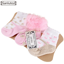 Sanlutoz Baby Socks Newborn Socks for Girls Infant Socks Cute Fashion Baby Birthday Gifts 0-12 Months 2017 3pcs
