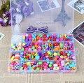 Горячая DIY бусины комплект аксессуаров девушка игрушки смешанные дети бусины с коробкой, Правильно амблиопии игрушка