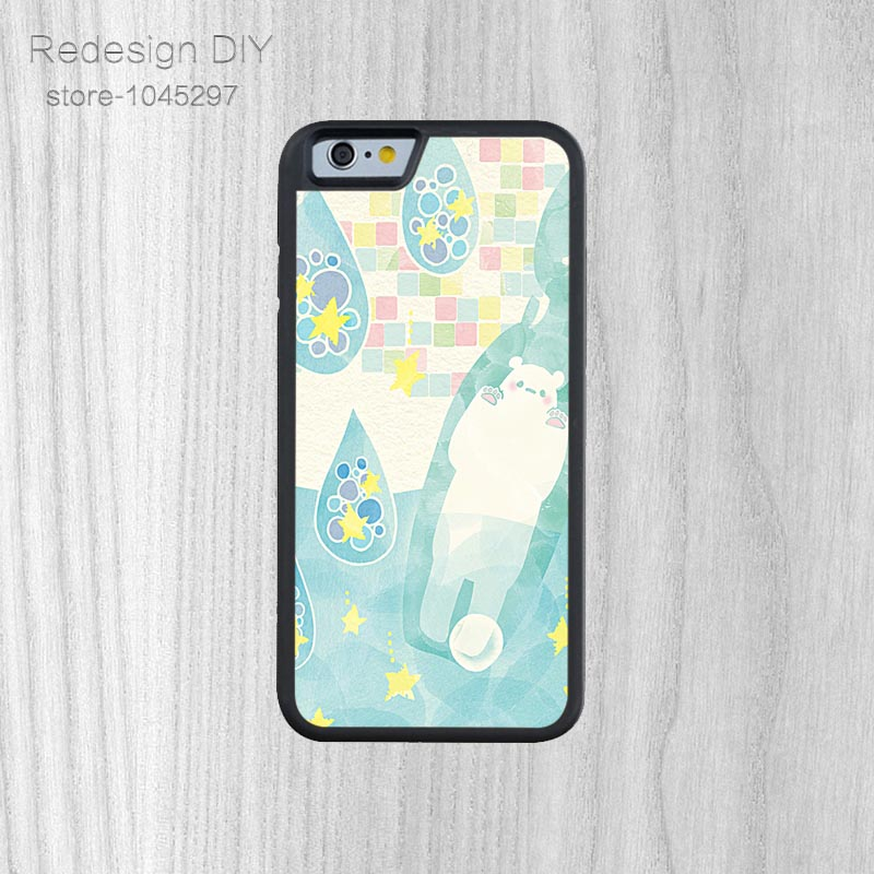 Hot Sale White Xiongmeng Meng Da Phone Protection Shell For iPhone 6 6s And 4 4s 5 5s 5c 6 Plus Abstract Phone Shell Cute Bear