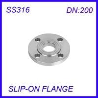 DN200 Stainless Steel SS316L RAISED FACE 4 Bolt SLIP ON FLANGE Industrial