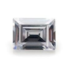 Размер 3x5 7x9mm прямоугольник багет cut 5a белый cz камень