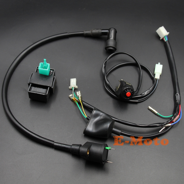 wiring loom harness kill switch ignition coil cdi for honda crf50 klx dirt  pit bike new
