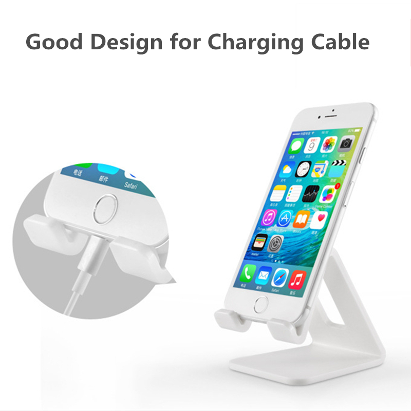 Image 3 - HOTR Universal Desk Holder Tablet Mobile Phone Holder with Shock proof Silicone Pad Strong Plastic Cell Phone Holder Stand Mount-in Phone Holders & Stands from Cellphones & Telecommunications