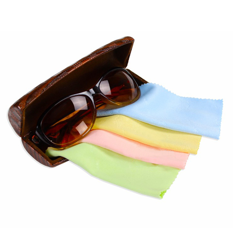 Mirrored Promotional Oversized Flat Fashion Vintage Sunglasses Glasses Metal Lens wiping cloth