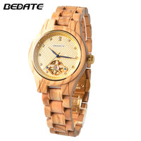 BEDATE 2017 New Fashion Business Quartz Women Watch Wooden Watch Simple Atmosphere Personality Female Watch ZS W136A
