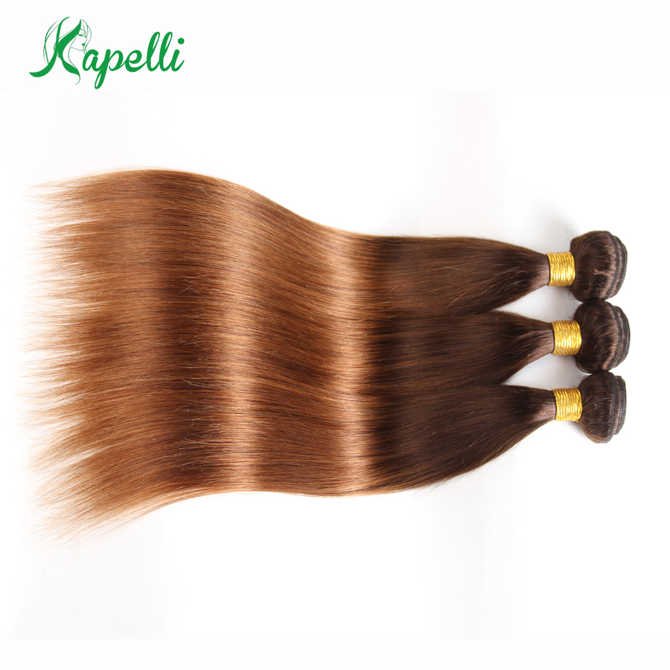 Ombre Brazilian Straight Hair Bundles Two Tone Blonde Ombre Human Hair Weave Bundles Non-Remy 3 Bundle Deals T4/30 Free Shipping