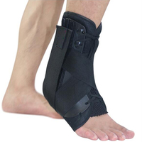 Medical Lace Up Ankle Brace Support Stabilizer For Ankle Injury Rehab Mild Ankle Sprains Distortion Sport