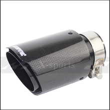 akrapovic plain weave Glossy carbon car exhaust system muffler plain tip Tail Pipes universal straight  black stainless steel