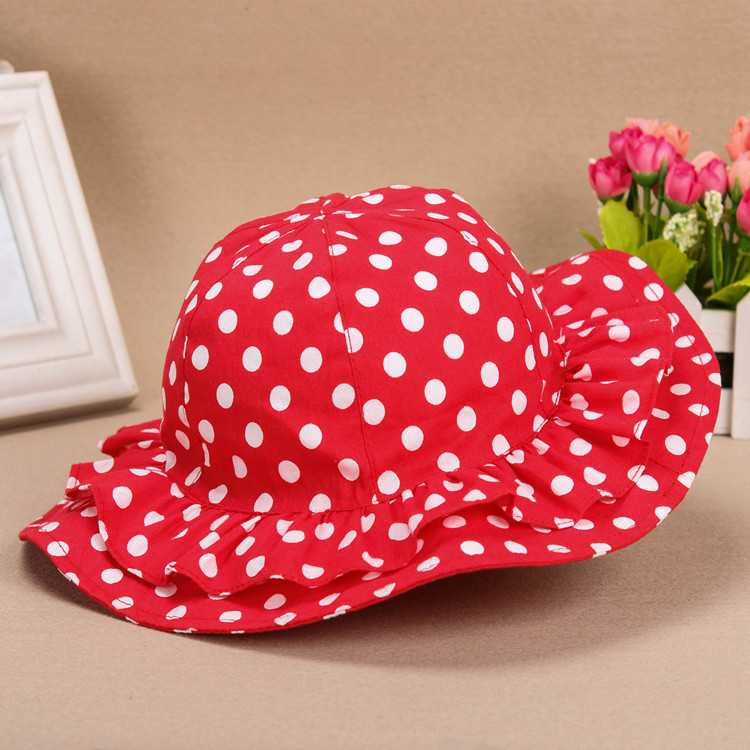 Dochter Gift Girls Bucket Hat Baby Summer Fisherman Hat Kid Lovely Sun Cap 100% Katoen 1-2Y en 2-4Y
