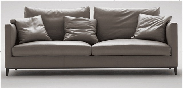 High Quality Cow Top Graded Genuine Real Leather Sofa Living Room Furniture Latest Style