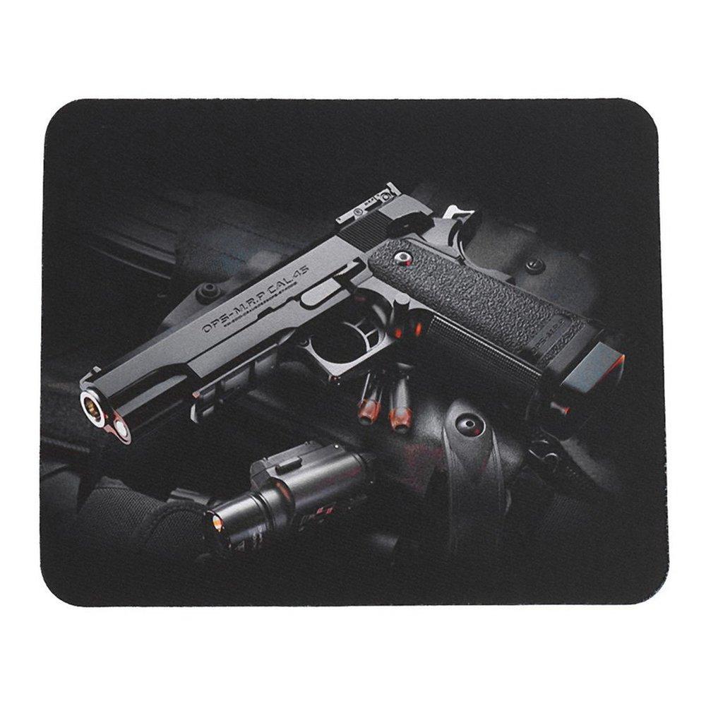 Gun Pattern Anti-Slip Laptop PC Mice Pad Mat Mousepad For Optical Laser Mouse