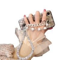 Bracelet Woman For Iphone 7 Plus Case Luxury 3d For IPhone 5 5s SE 6 6s 6Plus 6sPlus 7 8 X Case Mobile Phone Bags Cases