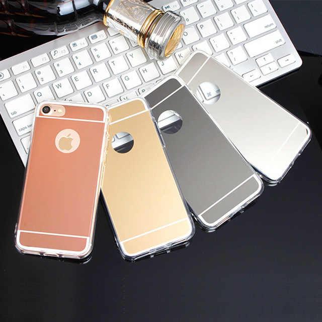 高級ミラー超薄型シリコンケース iphone 6 s 6S 7 7 4s 8 プラス X 10 5 5S 5SE 6 プラス 6 S-plus 7 プラス 8 プラスバンパーカバー
