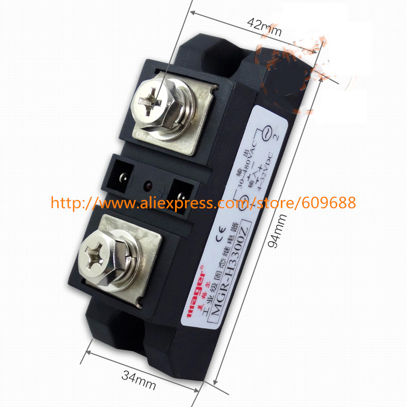 Mager Industrial grade module solid state relay H3300Z DC-AC 300AMager Industrial grade module solid state relay H3300Z DC-AC 300A
