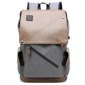 Enlarge Backpack USB External Charge 15.6 Inch Laptop Backpack Shoulders Men Anti-theft Waterproof Travel Backpack фото