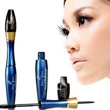 Makeup Beauty Mascara + Waterproof Double Dual Head Cosmetic Brush