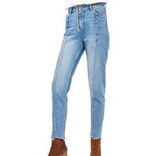 2017 летние женские брюки случайные эластичность джинсы женщина тонкий завышенной талией джинсы женская одежда