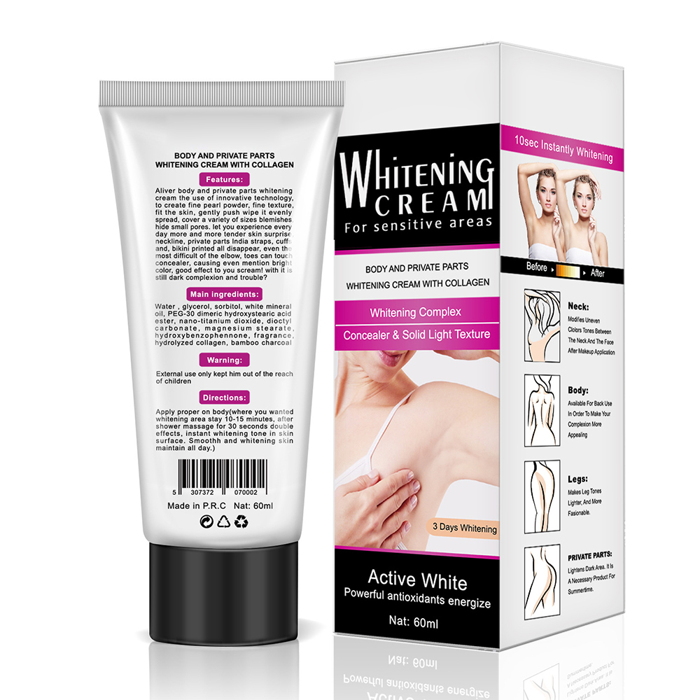 Body Whitening Cream Underarm Legs Bleaching Cream Dark Skin Natural Whitening Deodorant Cream For Skin Lightening Skin Care