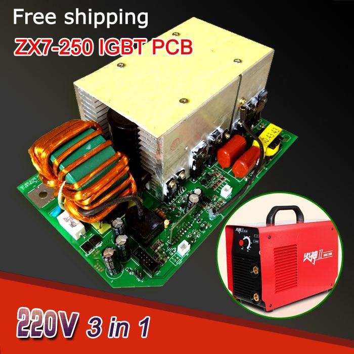 ФОТО welding machine board of ZX7 MMA ARC 250 IGBT PCB  Single board   for dc inverter welder AC220V intelligent 3 in 1