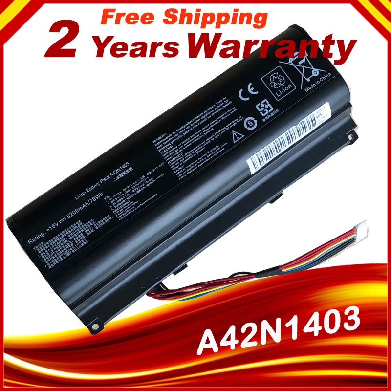 HSW OEM Special A42N1403 Battery for <font><b>ASUS</b></font> <font><b>ROG</b></font> G751 <font><b>G751JT</b></font> A42LM93 4ICR19/66-2 GFX71JY fast shipping image