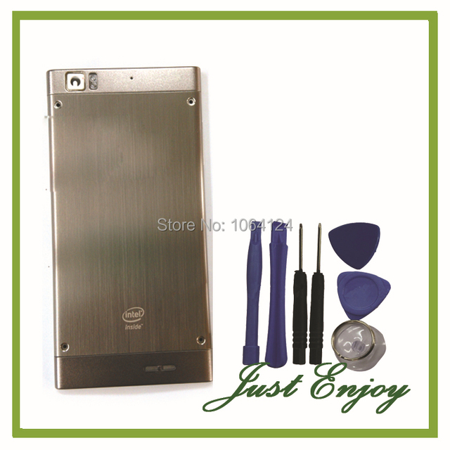 New Battery Door Back Cover Case For Lenovo K900 Housing With Side Buttons Sliver Color +Free Tools