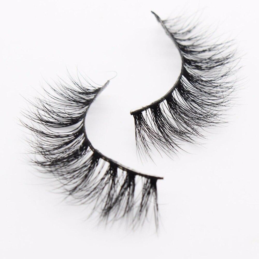 d29d9b29c4f Ptcharming Handmade 100% 3D Real Siberian Mink False Eyelash Individual  Eyelashes Extension Faux Lashes PTAME A14-in False Eyelashes from Beauty &  Health on ...