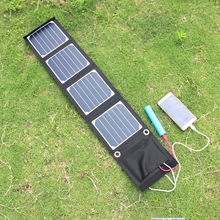 BUHESHUI 20PCS/Lot 14W Sunpower Portable Solar Charger For Mobile Phone/MP3/Camping/Travel Dual USB Output Shipping Via DHL