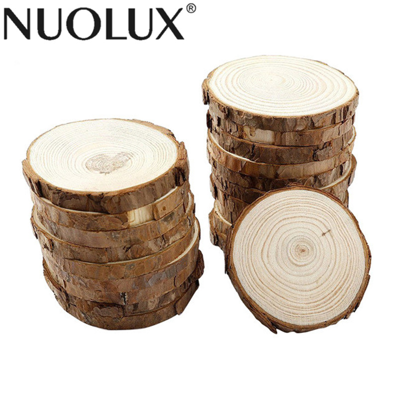 10pcs Wood Slices Diy Craft Decorations For Birthday Party