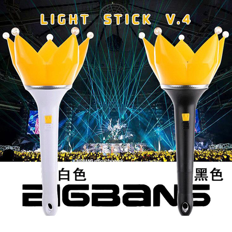 Kpop BIGBANG Hand Lamp Fourth Generation of Crown Lights K-pop Acoustic Concert Who Korea Light Sticks for Concert Glow Stick bigbang 2012 bigbang live concert alive tour in seoul release date 2013 01 10 kpop