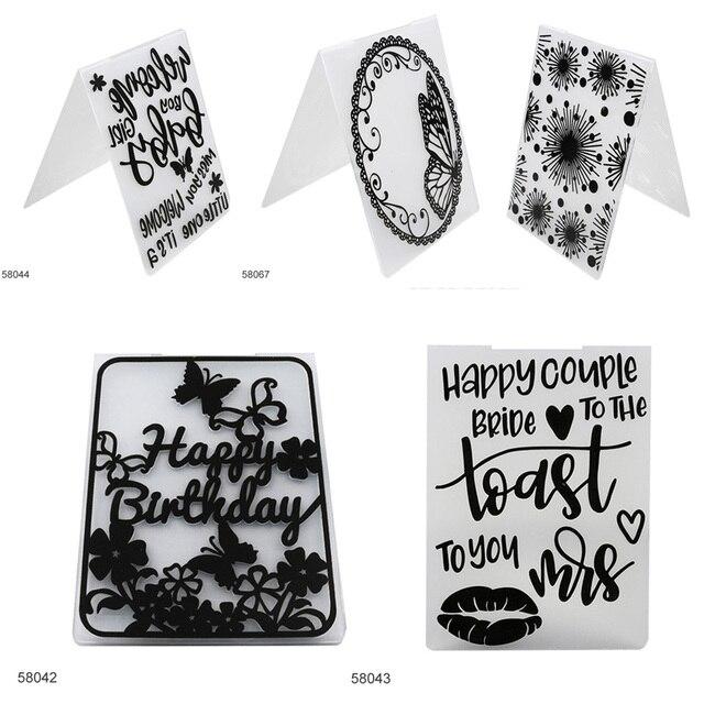 Lace Pattern Paper Cards Wedding Decor DIY Craft Card Making ...