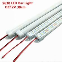 10 stücke 30cm 5630 5730 DC12V harten steifen bar streifen mit U aluminium profil shell kanal gehäuse schrank licht küche licht
