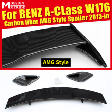 Sports AEAMG Style Carbon Rear Trunk Spoiler Wing car styling Accessories For Mercedes Benz A-Class W176 A180 A200 A250 2013-in
