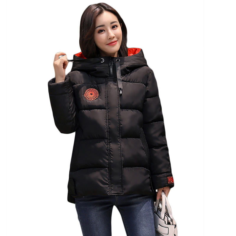New 2017 Women Winter Jacket Female Elegant Short Slim Fashion Winter Coat Cotton-padded Hooded Women Wadded Parkas Coat CM1657 lstu winter jacket women 2017 fashion cotton padded hooded jacket female wadded jacket outerwear winter coat women