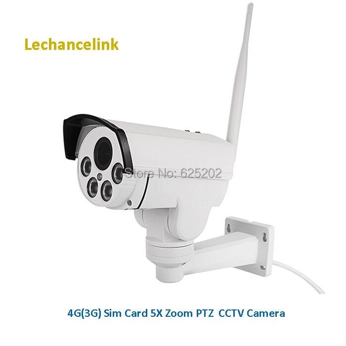 Caméra de vidéosurveillance HD 960 P PTZ 2.7-13.5mm 5X Zoom optique 4G 3G