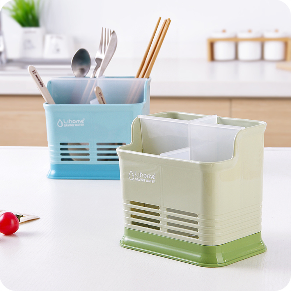 Kitchen tabletop chopsticks cage creative kitchen chopsticks spoon tube chopsticks cutlery drain storage rack wx8301619