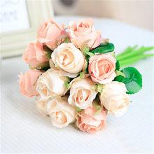Rosas De Seda Blanca Compra lotes baratos de Rosas De Seda