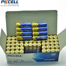60 X PKCELL 슈퍼 헤비 듀티 R6P 1.5V AA 배터리 2A 배터리 Bateria Baterias