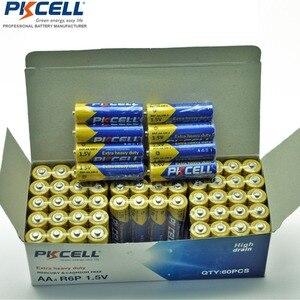 Image 1 - 60 X PKCELL סופר כבד החובה R6P 1.5V AA סוללה 2A סוללות Bateria Baterias