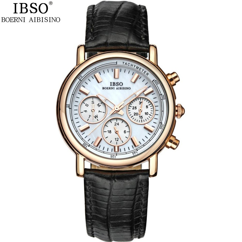 ФОТО Elegant Genuine Leather Quartz Lady Watch Fashion Calendar Week 24 Hour Women Dress Watches Brand Waterproof Female Wristwatches