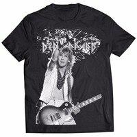 2018 Short Sleeve Cotton T Shirts Man Clothing Def Leppard Giutar Rock Memory 80 T ShirtNew