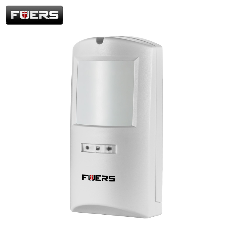 Fuers Wireless Outdoor PIR Sensor Motion Detector Waterproof 433Mhz Alarm Sensor For GSM/PSTN Home Security Alarm System smarsecur alarm 433mhz wireless pir sensor motion detector for wireless gsm pstn auto dial home security alarm system no battery