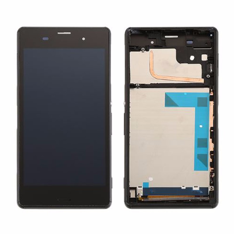 For Sony Xperia Z3 D6603 D6653 L55t LCD Display with Touch Screen Digitizer Assembly with frame Black white Free shipping