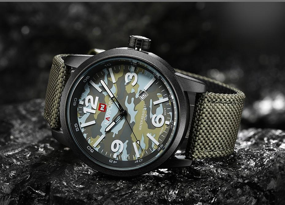 2017 Nouveau NAVIFORCE Hommes Quartz Sport Militaire Montres Hommes De Luxe de Marque De Mode Casual Montre-Bracelet Relogio Masculino Homme Horloge 10